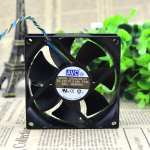 AVC 8CM 8025 12V 0.35A DS08025B12U P134 3000RPM 4-pin double ball DC fan