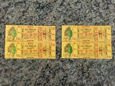 5/16/67 & 9/30/67 1967 Dodgers Mets Astros Vintage UNUSED MINT Tickets