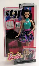 Barbie Style Glam Night 28cm Doll CLL36 RAQUELLE Black Hair Mattel