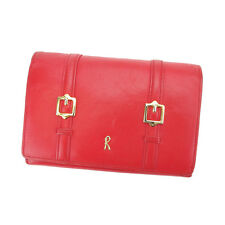 Roberta Di Camerino Wallet Purse Red Gold Woman Authentic Used Y4114