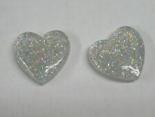 "*New* 2X Wilson ""Clear Sparkling Heart"" Vibration Dampeners For Tennis Racquets"
