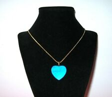 BLUE HOWLITE natural stone  HEART PENDANT 25 mm w/ bail