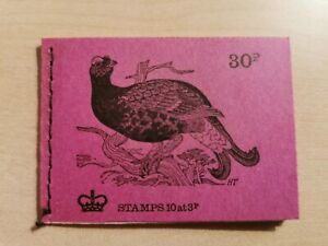 Gb 1972 30p booklet DQ68 December S, British birds, grouse, mint unmounted