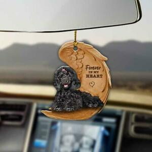 Black Toy Poodle Two Sided Ornament, Car Hanging Ornament, Hanging Decors