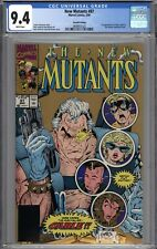 New Mutants #87 CGC 9.4 NM 1st Appearance of Cable 2nd Printing Variant WHITE