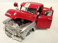 "1951 Chevrolet 3100 Pickup Truck 8.75"" Diecast 1:24 Collectible, Jada Toys, Red"
