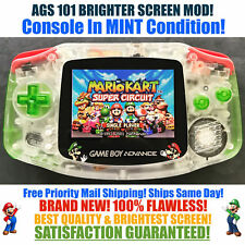 Nintendo Game Boy Advance GBA Mario Luigi System AGS 101 Brighter Backlit Mod