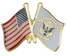 "Coast Guard Usa Dual Flag Lapel Pin 1"" x 3/4"" Cgusa"
