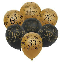 """10pcs 12"""" Number Ages Latex Balloons 18 25 40 50 60 30th Birthday Party Decor"""