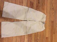 L L Bean Insect Shield Girls size 6x-7 zip off pants khaki stone