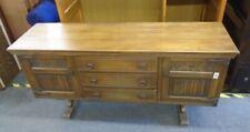 OLD CHARM Wood Bros Solid Oak Tudor Style 2 Door 3 Drawer Sideboard - CS W67