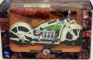 1930 Indian Chief White Bike 1/12 Diecast Motorcycle Model 42163