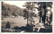 RPPC BIG BEAR LAKE , CA   LAKE VIEW PINES & Boulders  1924  Postcard