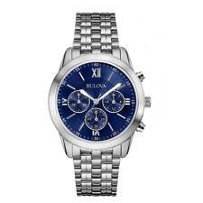 Orologio Uomo Bulova Cronografo Acciaio Quadrante Blu 96A174 Nuovo Listino 199€