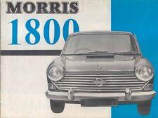 Morris 1800 Original UK launch Sales Brochure Pub. No. 6600/A Feb. 1966