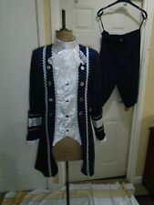 Georgian mans ball costume  small size 40 chest theatre show navy