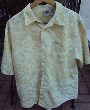 Men's OP Ocean Pacific XL Hawaiian Shirt Rayon Polyester Floral Short Sleeve