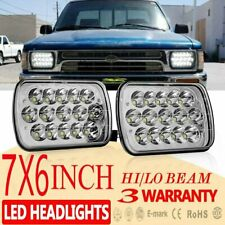 2pcs H6054 7x6 LED Headlight Sealed Beam Square Headlamp For Toyota Truck Pickup