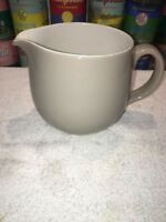 Arabia Finland solid Light Gray / White Pitcher Kaj Franck mid century modern