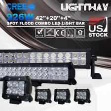 "42"" 20"" 4"" Inch CREE LED Work Light Bars 560W 294W 18W Spot Flood Combo Lamps"