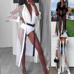 Women Summer Shawl Long Cardigan Tops Beach Cover Up Blouse Bikini Beachwear