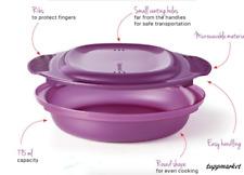 Tupperware Meal Maker Delight Microwave Dish Rare Award Brand New Purple