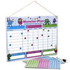 ewtshop® Monster Belohnungstafel, magnetisch, Wochenplaner mit Monster-Magneten