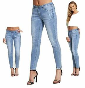 New Daysie Ladies Womens Studs Skinny Jeans Trousers Pants Casual Wear 8-16UK