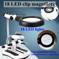 Desktop LED Magnifier Table Lamp 10X Magnifying Glass Welding Maintenance  🔥 Q