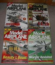 4 Magazine lot-Model Airplane International 190;Mig19;F3D;110;Fe2B;Wa lrus;F18etc