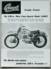 GREEVES 250cc MOTO CROSS SPECIAL MODEL 24MCS MOTORCYCLE Sales Spec Leaflet 1961