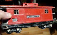 ORIGINAL LIONEL 2817  CABOOSE O GAUGE TINPLATE Prewar VINTAGE Train Car 1938