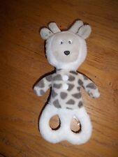 Doudou Obaibi Hochet Grelot Girafe Beige