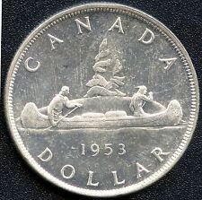 "1953 ""Shoulder Fold"" Canada Silver Dollar Coin ( 23.33 Grams .800 Silver)"