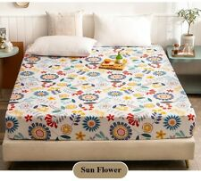 Free Shipping 1Pcs 100% Cotton Fitted Sheet Bed Cover for Protect mattress