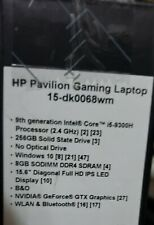 New HP Pavilion 15-dk0068wm 15.6'' FHD IPS Laptop i5-9300H 8GB 256GB GTX 1050