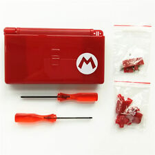 Nintendo DS Lite Full Replacement Housing Shell Screen Lens Mario Red US!