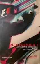 United States US Grand Prix2016 Formula 1 Poster, Austin, Texas, USA, RARE