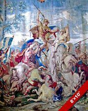 BATTLE OF ARBELA PAINTING ALEXANDER THE GREAT V PERSIA WAR ART REAL CANVASPRINT