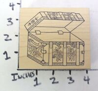 Pirate Manatee with Treasure and Cutlass Rubber Stamp J20809 WM
