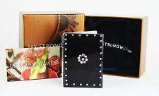 Jay Strongwater Large Folding Travel Black Frame Iridescent Swarovski New Box 2