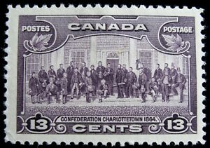 CANADA – Sc #224 – 13¢ – VIOLET – MINT-HINGED – 1935