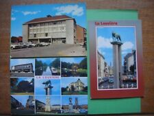 Lot de 3 cartes de LA LOUVIERE