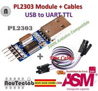 PL2303 USB To RS232 TTL Converter Adapter Module PL2303HX for Arduino + Cable
