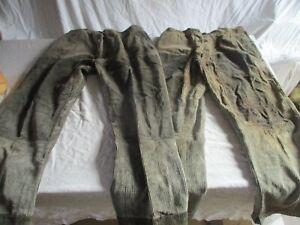 lot 2 pantalon en velours a cotes de travail ancien.