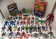 HUGE LOT 40+ MARVEL SPIDER MAN  X-MEN Action Figures +More Carnage Venom Toy Biz
