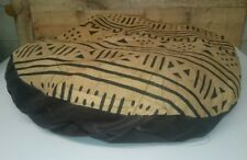 """Ashford Court Leather Patch 36"""" round Dog Bed Cover Only Lines and Dote Symbols"""