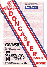 1988/89 Doncaster Rovers v Grimsby Town, Sherpa Van Trophy, PERFECT CONDITION