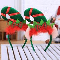 Eg _ Natale a Punta Cappello Fiocco Fascia Bambini Adulto Capelli Decorazione