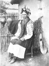 RUSSIA. Peasant costume, Russia;  1900 old antique vintage print picture